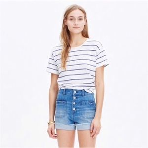 Madewell | High Rise Button Fly Denim Shorts